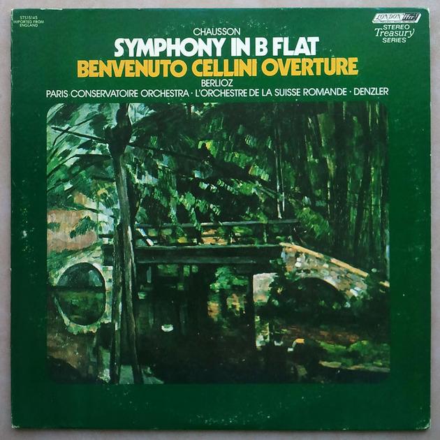 London ffrr   DENZLER/CHAUSSON - Symphony in B Flat / BERLIOZ Benvenuto Cellini Overture / NM