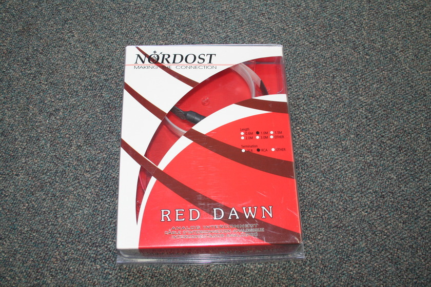Nordost Red Dawn 1m RCA's (see pics)