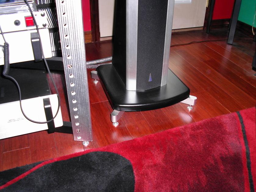 BG Aluminum Speaker Amplifier Stand Rack Feet For Bohlender Graebener, Subwoofer, Etc PAIR New