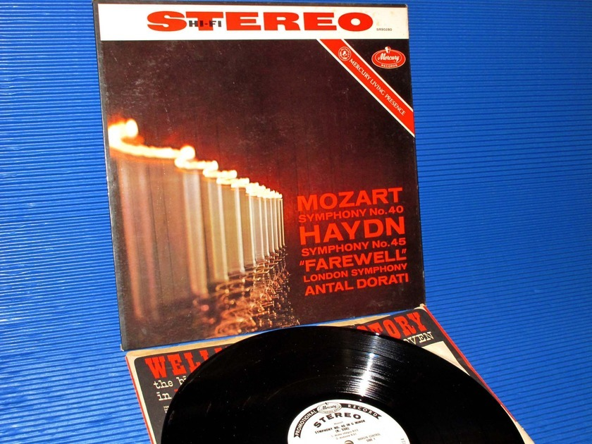 "HAYDN/MOZART/Dorati -  - ""Farewell Symphony/Symphoony no.40"" -  Mercury Living Presence 1960 Promo 1st Pressing"