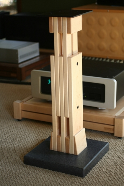 "Core Audio Designs Model ""B"" v.2 Adjustable Speaker Stand. Height variable from 22""-29"""