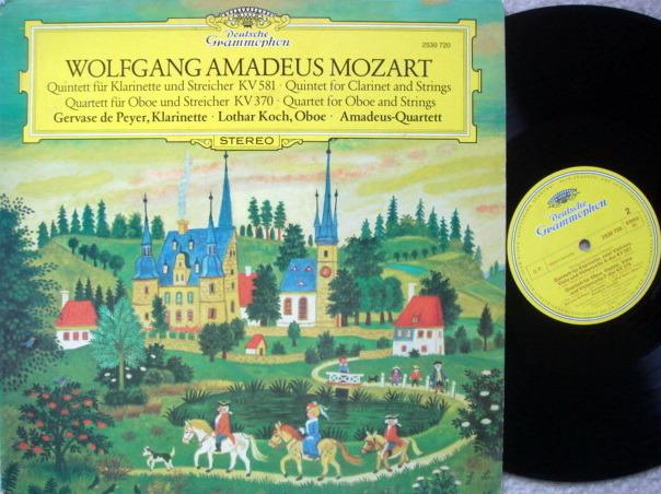 DG / AMADEUS QT,  - Mozart Clarinet Qunitet K.581, Oboe Quartet K.370,  NM!