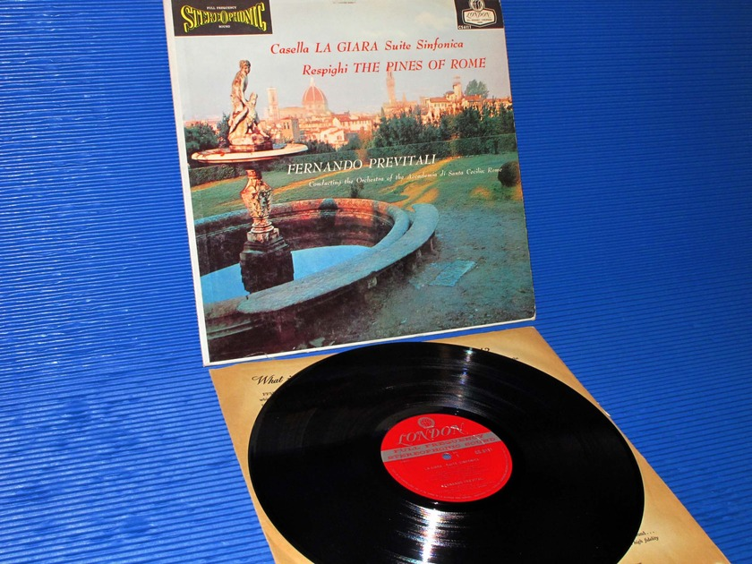 "CASELLA/RESPIGHI/Previtali -   -  ""La Giara/Pines of Rome"" - London 'BB' 1959 early pressing"