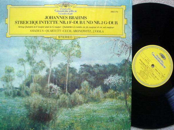 DGG / AMADEUS QT, - Brahms String Quintets No.1 & 2, NM!