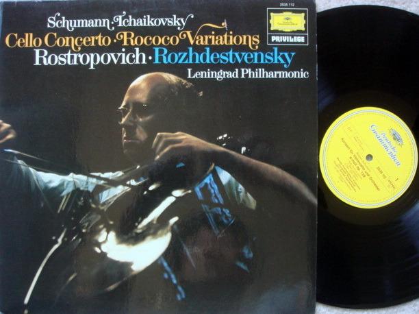DG / ROSTROPOVICH/ROZHDESTVENSKY, - Schumann Cello Concerto, NM!