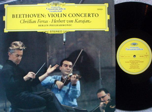 DGG / FERRAS-KARAJAN, - Beethoven Violin Concerto, NM!