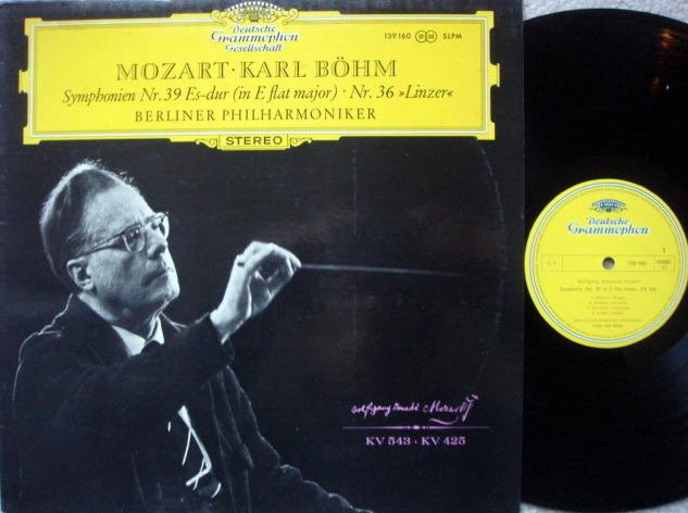 DGG / BOHM-BPO, - Mozart Symphonies No.36 & 39, NM!