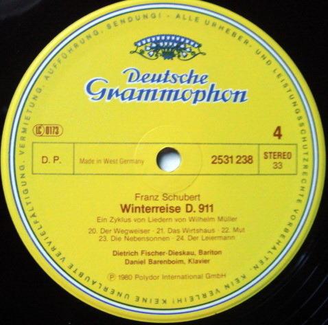 DG / FISCHER-DIESKAU-BARENBOIM, - Schubert Winterreise, NM, 2LP Box Set!