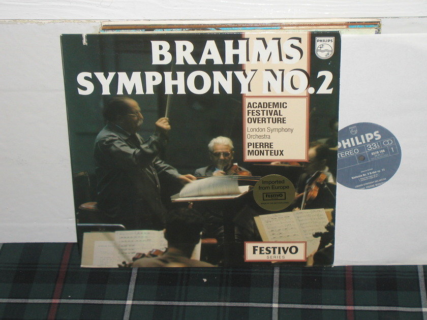 Monteux/LSO - Brahms No.2 Philips import pressing 6570