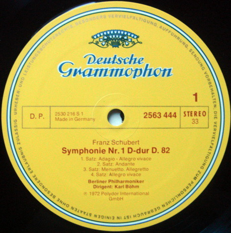 DG / BOHM-BPO, - Schubert The Complete 8 Symphonies, NM, 5LP Box Set!