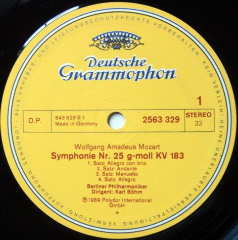 DG / BOHM-BPO, - Mozart The Great Symphonies (No.25~41), NM, 7LP Box Set!