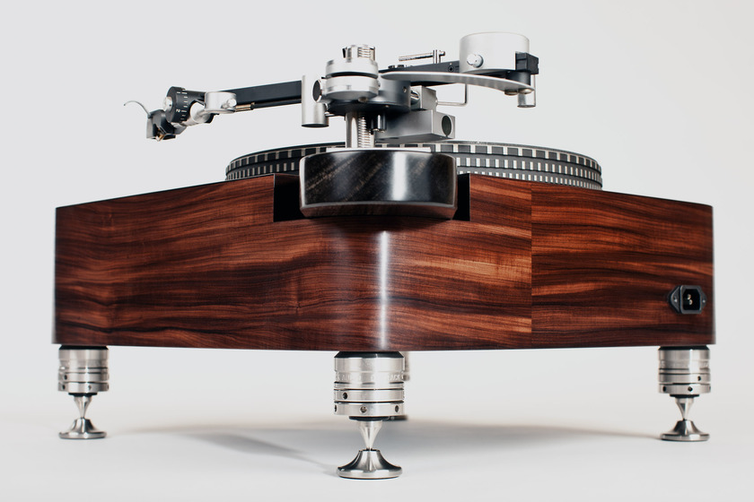 Woodsong Audio Garrard 401  Santos Rosewood plinth  tiny footprint model