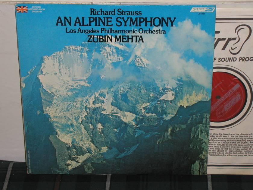 Mehta/LAPO - Strauss Alpine LondonUK/Decca CS6981 LP
