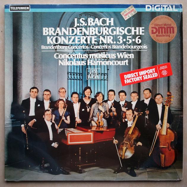 TELEFUNKEN   HARNONCOURT/BACH - Brandenburg Concertos Nos. 3, 5, 6 / NM