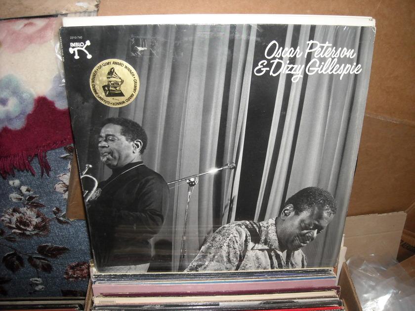 (lec) Oscar Peterson & Dizzy - Gillespie Grammy  Award Winner Pablo LP (c)