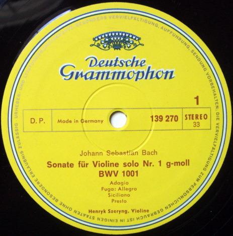 DGG / HENRYK SZERYNG, - Bach 6 Sonatas & Partitas for Solo Violin,  NM, 3LP Box Set!