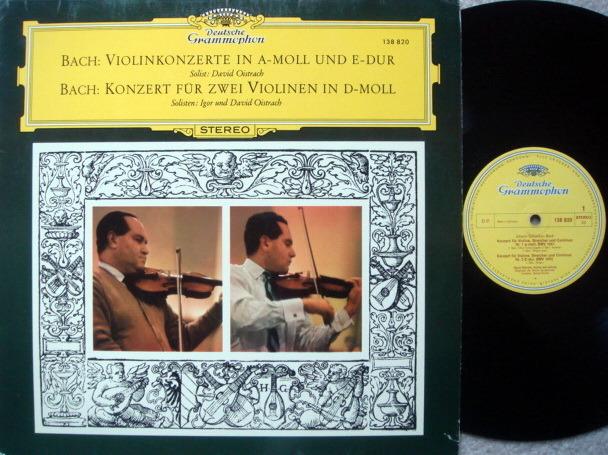 DGG / DAVID & IGOR OISTRAKH, - Bach Violin Concertos, NM!