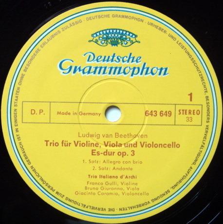 DG / Beethoven Edition, - Complete String Trios, NM, 3LP Box Set!