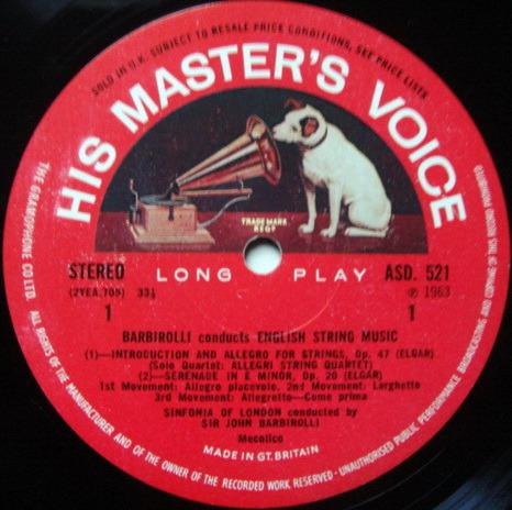 EMI ASD SEMI-CIRCLE / BARBIROLLI, - English String Music,  NM!