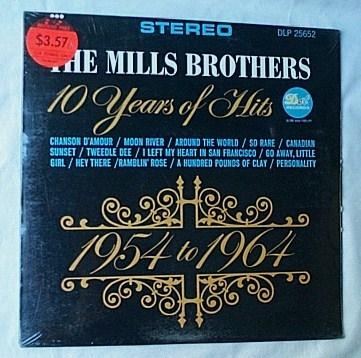 Mills Brothers LP-10 years of hits - 1954-1964 orig 1965 SEALED  album-superb vocal harmonies