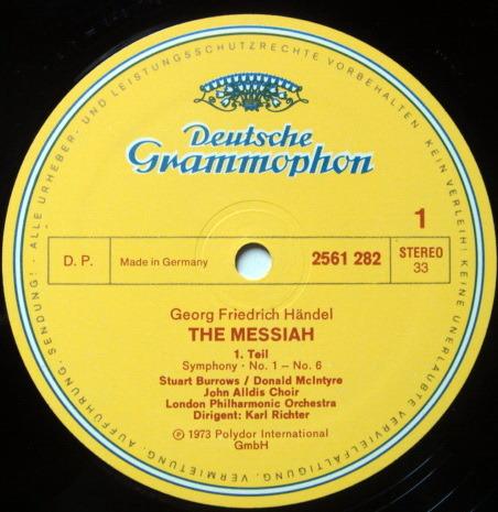 DG / KARL RICHTER, - Handel Messiah Complete, NM, 3LP Box Set!