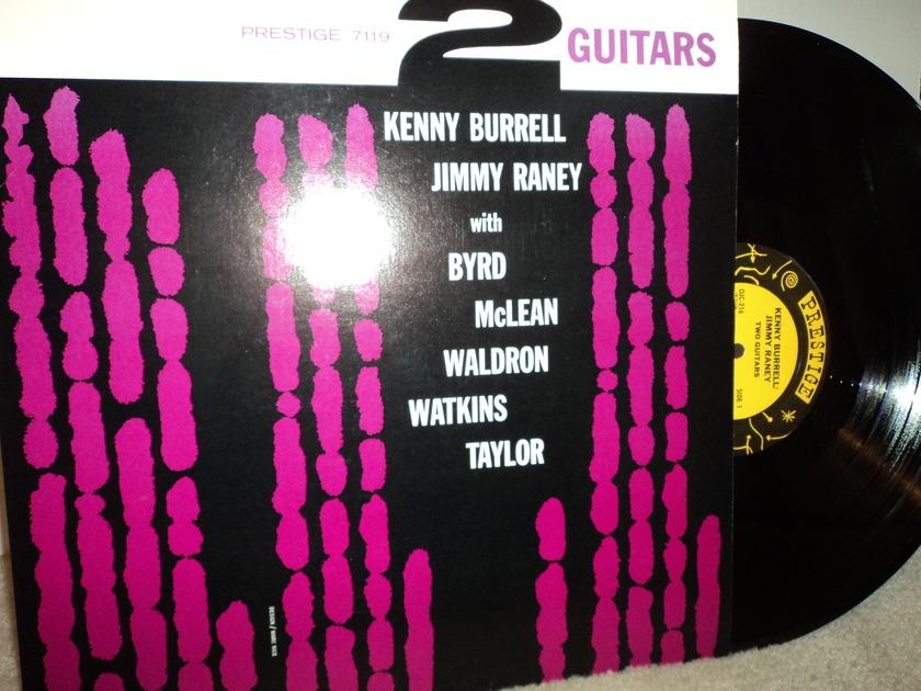 "Kenny Burrell & Jimmy Raney ""2 Guitars"" - Donald Byrd, Jackie Mclean, Mal Waldron, Doug Watkins & Arthur Taylor  OJC 216  NM"