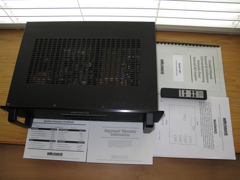 Audio Research PH7 phono (Black) latest power supply upprade