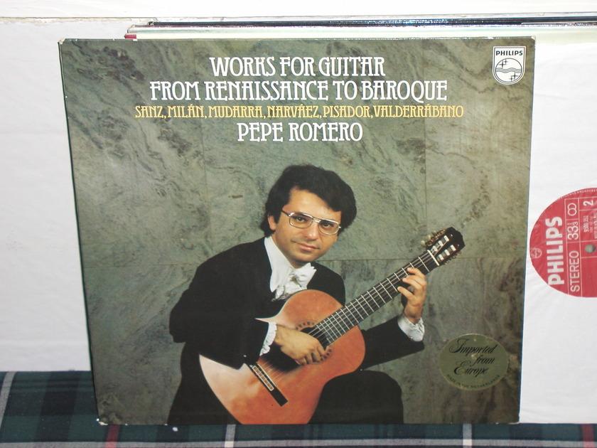 Pepe Romero - Sanz/Valderrabano Philips Import Pressing LP