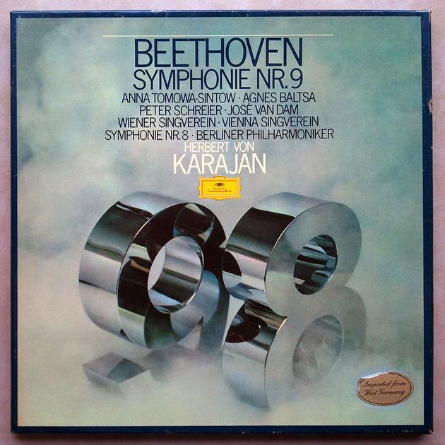 DG | KARAJAN/BEETHOVEN - Symphonies Nos. 8 & 9 / 2-LP / NM