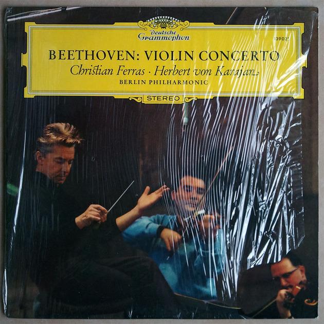 DG | CHRISTIAN FERRAS/KARAJAN/BEETHOVEN - Violin Concerto / NM
