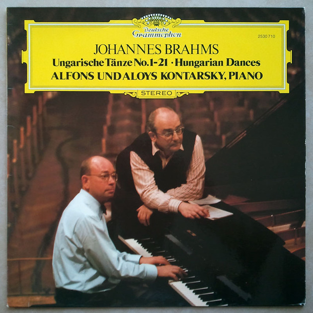 DG | ALOYS & ALFONS KONTARSKY/BRAHMS - Hungarian Dances Nos. 1-21 / NM