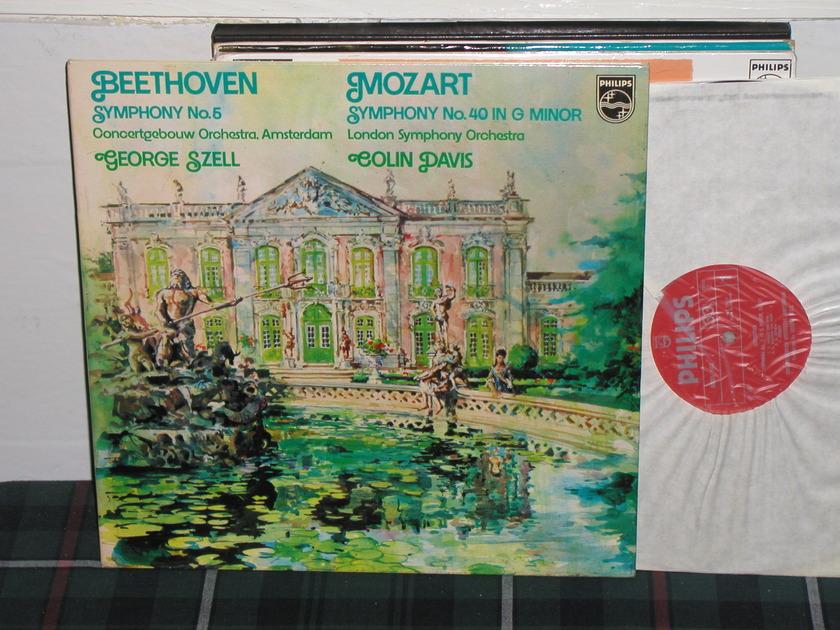 Szell/Davis COA - Beethoven No.5 Philips Import LP  6833 102