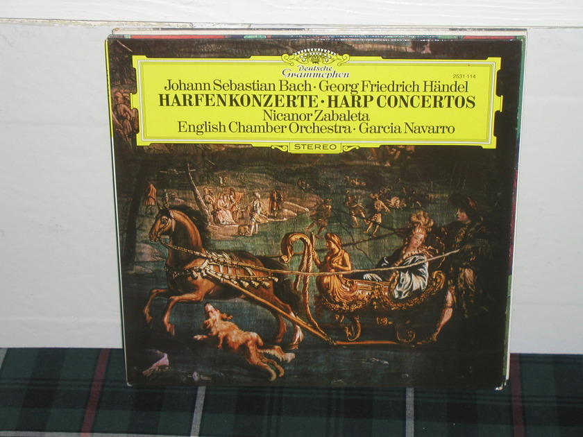 Navarro/Zabaleta/ECO - Bach/Handel Harp Cto DG German Import  LP