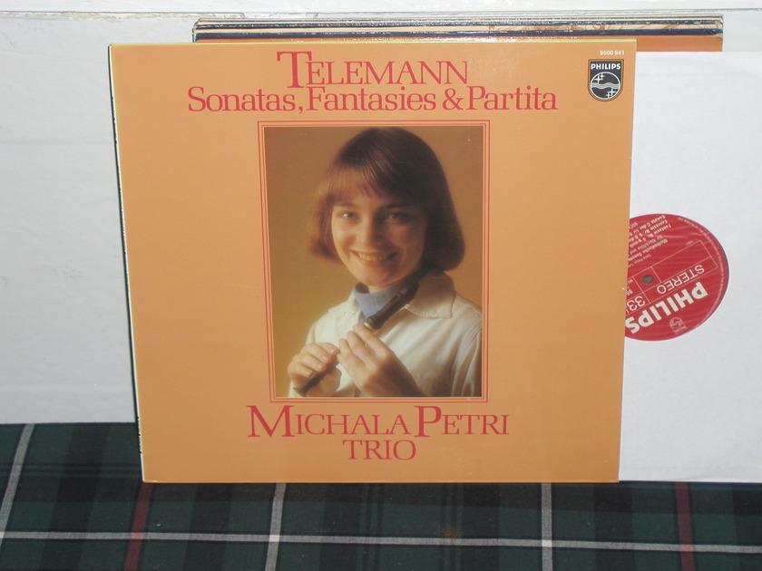Michele Petri Trio - Telemann Sonatas Philips Import LP 9500