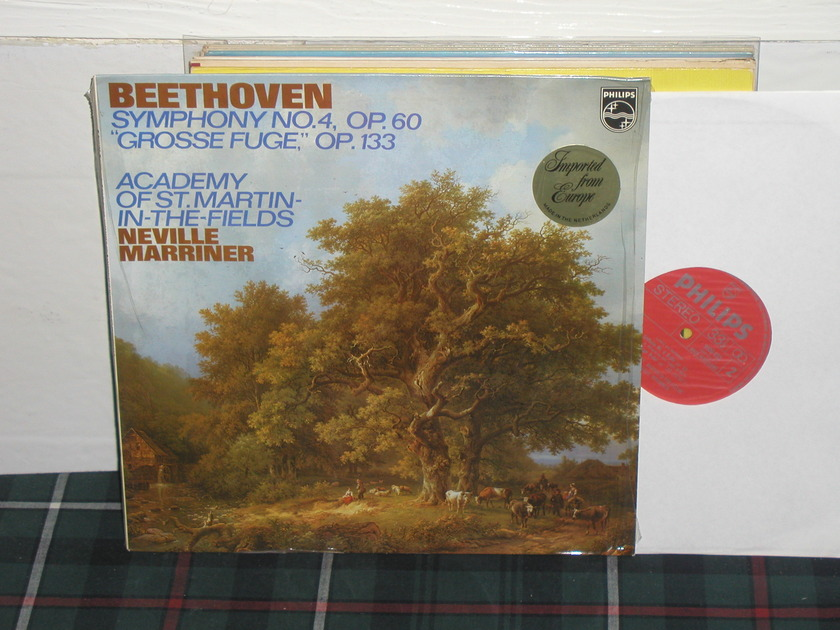 Marriner/AoStMitF - Beethoven No.4 Philips Import LP 9500