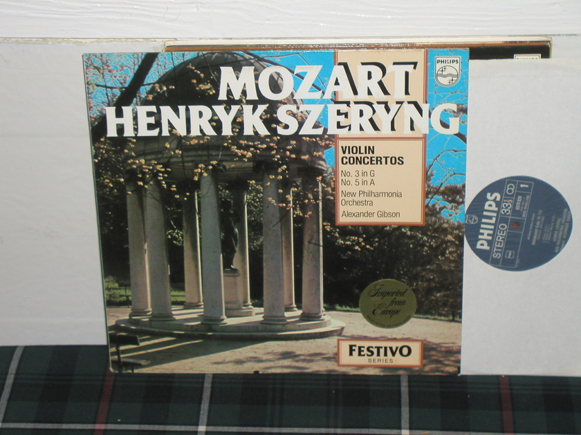 Gibson/Szerying/NPO - Mozart Violin Ctos  LP Philips Import Pressing 6500