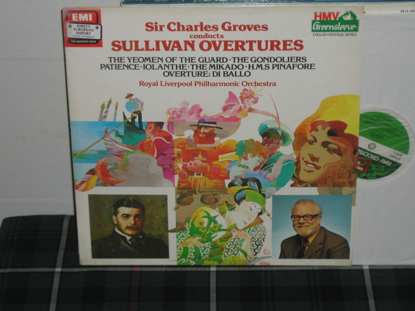 Groves/ RLPO - Sullivan Overtures UK EMI esd 1077541