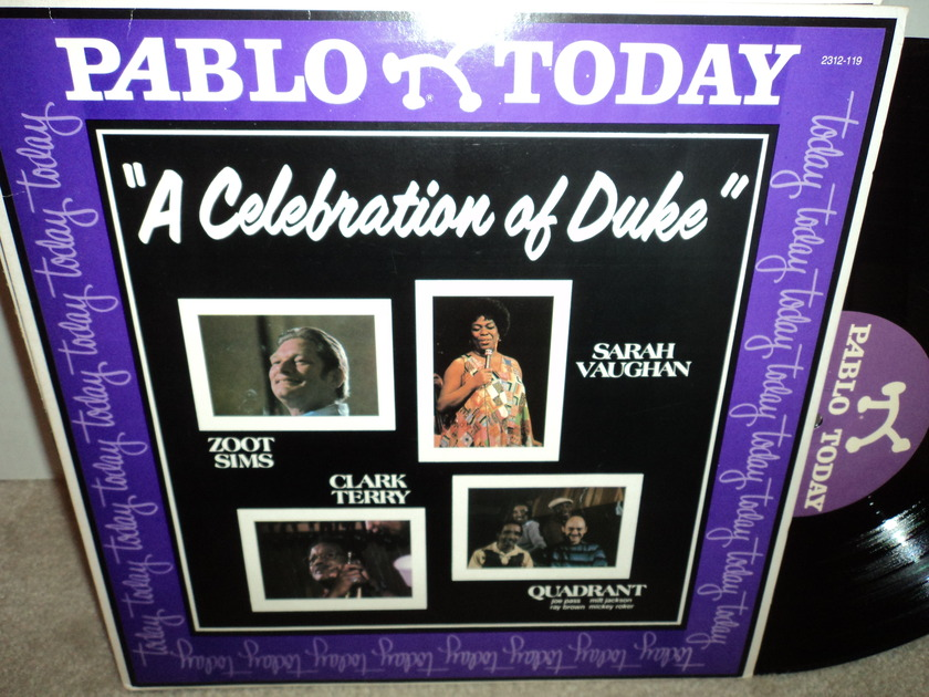 """Zoot Sims, Clark Terry, Sarah Vaughan  - """"A Celebration of the Duke""""  Pablo NM"""