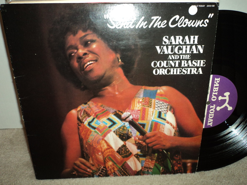 """Sarah Vaughan  - and the Count Basie Orchestra """"Send in the Clowns"""" Pablo NM"""
