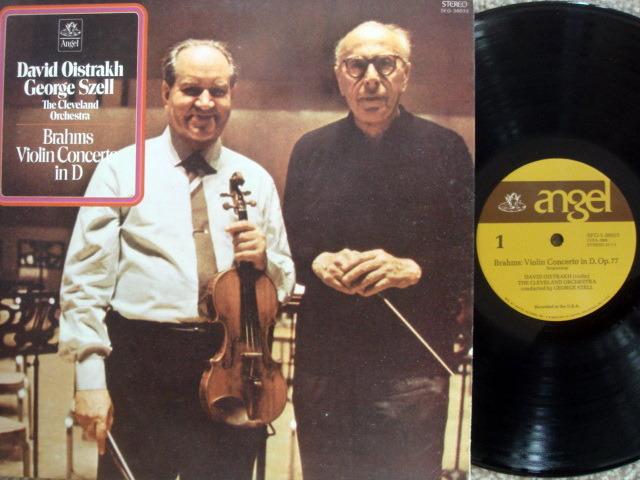 EMI Angel / OISTRAKH-SZELL, - Brahms Violin Concerto, NM!