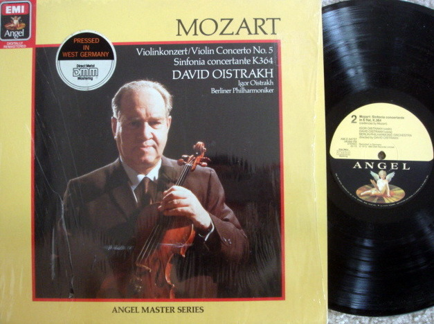 Emi Angel Digital / OISTRAKH, - Mozart Violin Concertos No.5, VG++!