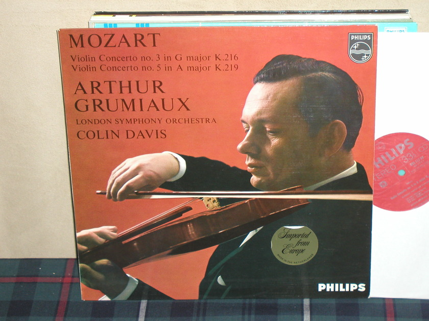 Grumiaux/Davis/LSO - Mozart Violin Cto No 3/5 Philips Import LP 835 LY