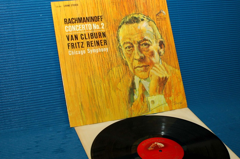 "RACHMANINOFF/Cliburn -  - ""Piano Concerto No.2"" - RCA 'Shaded Dog' 1962 1st pressing"
