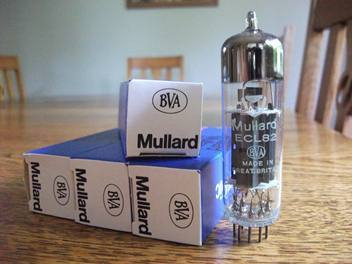 MULLARD ECL82/6BM8 QUAD OF NEW IN BOX NEW OLD STOCK BLACKBURN FACTORY U K TUBES FREE WORLD WIDE AIRMAIL SHIPPING