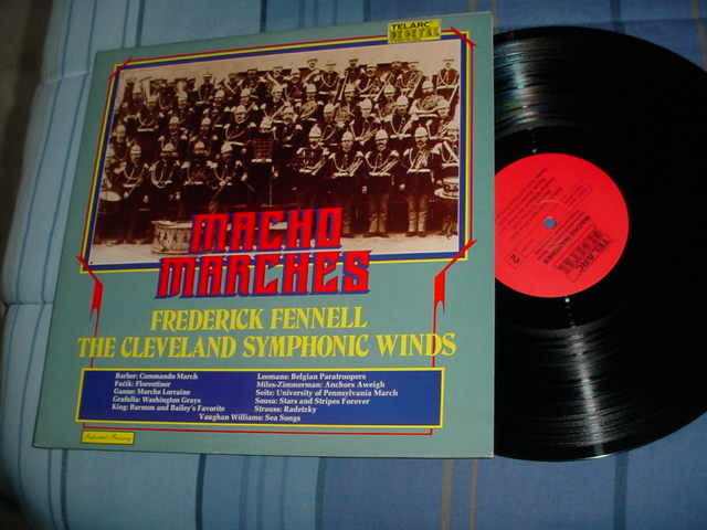 telarc digital frederick fennell - macho marches lp record