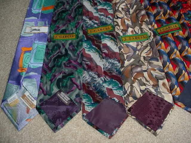 GRATEFUL DEAD JERRY GARCIA - lot of 9 neck ties