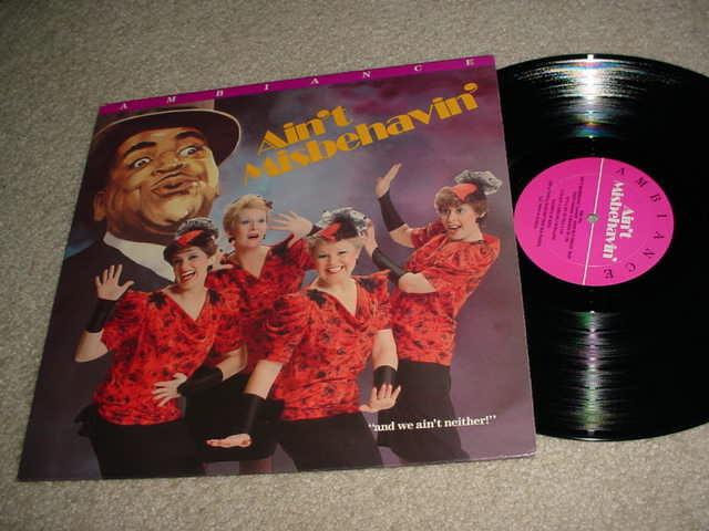 SWEET ADELINES 1986 queens of harmony  - quartet lp record  ain't misbehavin