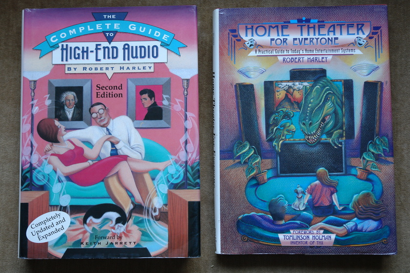 ROBERT HARLEY - COMP GUIDE TO HIGH END AUDIO +HOME THEATER ... TWO HARD COVER BOOKS