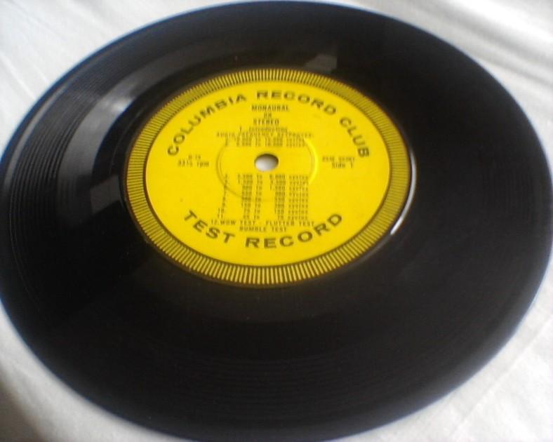 TEST RECORD - Columbia Record Club RARE 7 inch