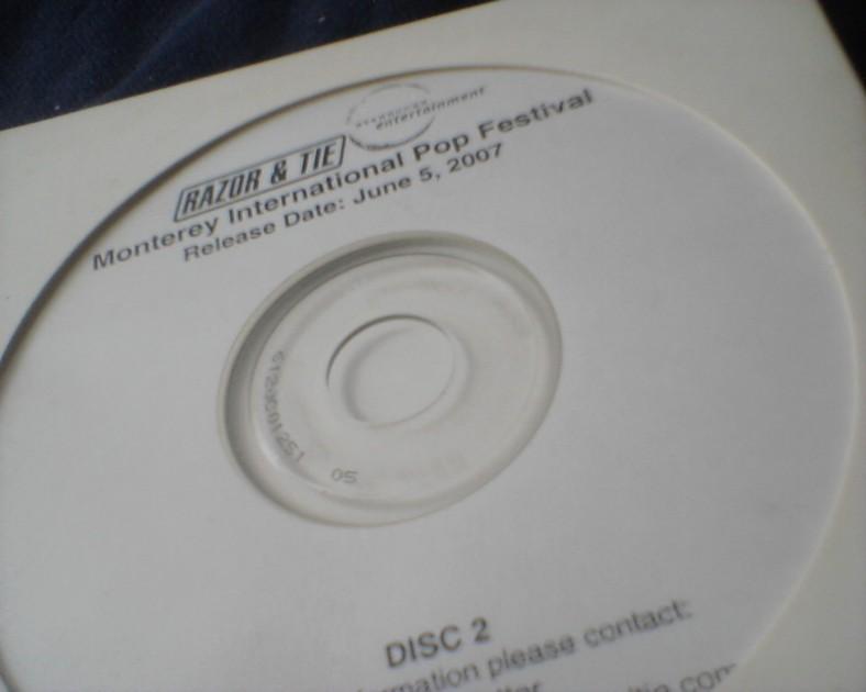 Razor & Tie Promo CD - Monterey Pop w/ 2 rare Jimi Hendrix Tracks